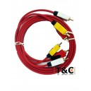 CABLE 3 RCA/3 RCA 1.5 MTS - BLISTER