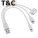 CABLE USB CARGA 3X1 IPHONE 4-5 / MICRO USB