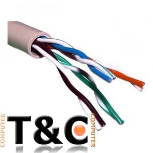 METRO DE CABLE UTP Cat 5E UNIFILAR