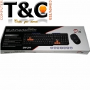 KIT TECLADO + MOUSE INALAMBRICO DM-304