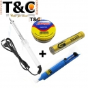 PACK CAUTIN 60W+PASTA SOLDAR+SOLDADURA 1MM+EXTRACTOR
