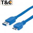 CABLE USB 3.0 A MICRO USB TIPO B / 50CM