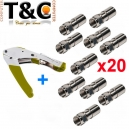 PACK CRIMP RG + 20 CONECTORES RG 6