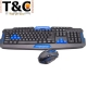 KIT TECLADO Y MOUSE INALAMRICO 2.4G HK8100
