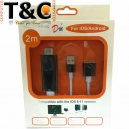 CABLE MHL A USB H PARA IPHONE/ANDROID MODEL: A5-06