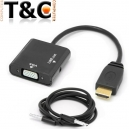 CONVERSOR CABLE HDMI A VGA Y AUDIO